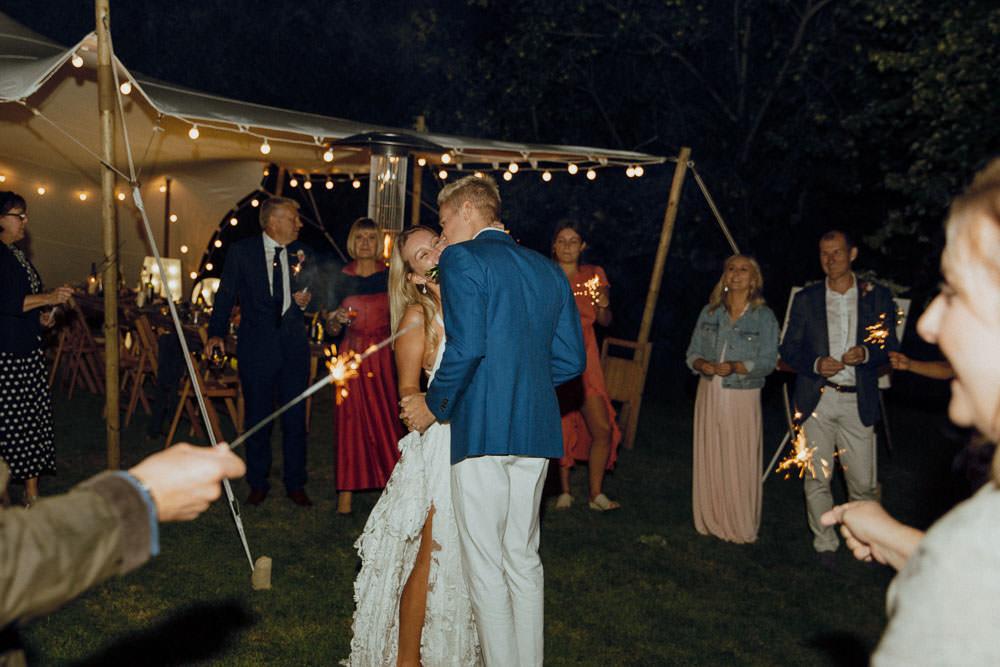 Sparklers Sparkler First Dance Summer Boho Wedding Wild Tide Weddings