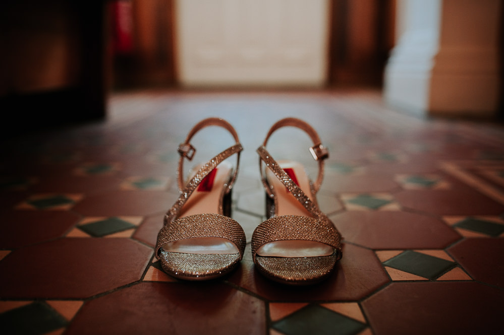 Gold Glitter Shoes Swancar Farm Country House Wedding Maree Frances Photography