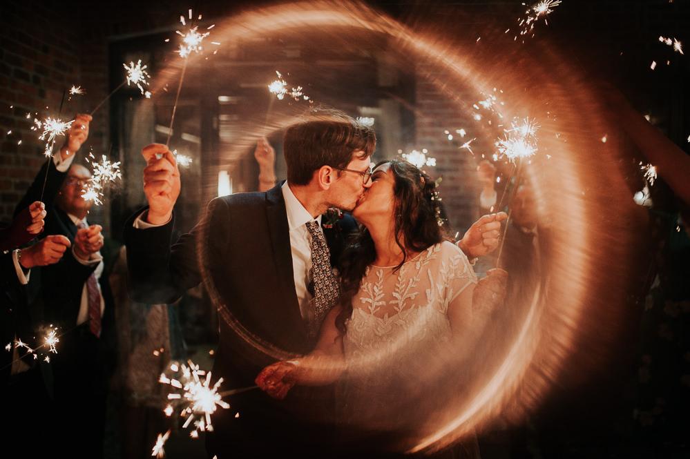 Sparklers Sparkler Exit Send Off Swancar Farm Country House Wedding Maree Frances Photography