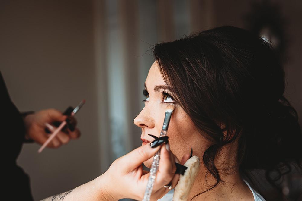 Bride Bridal Make Up Whinstone View Wedding Emma Adamson Photography