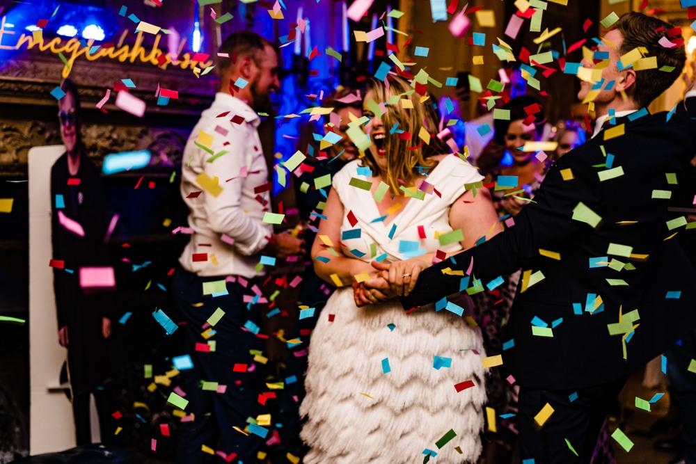 Confetti Cannon First Dance Anstey Hall Wedding Jonny Barratt Photography