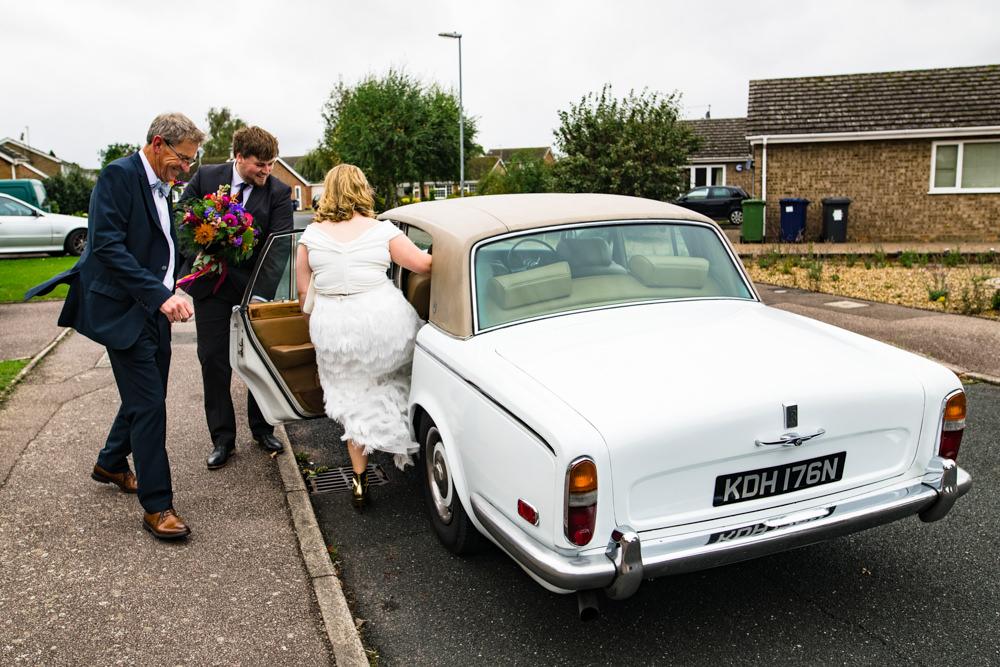 Classic Car Transport Anstey Hall Wedding Jonny Barratt Photography