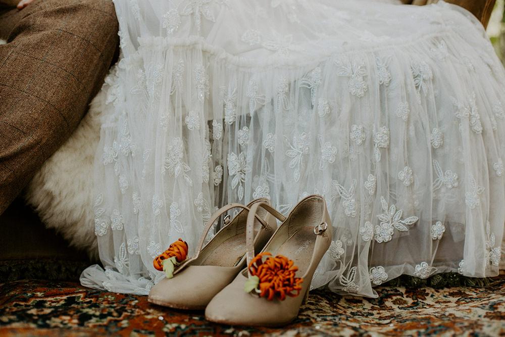 Floral Shoes Bride Bridal Boho Wedding Ideas The Enlight Project