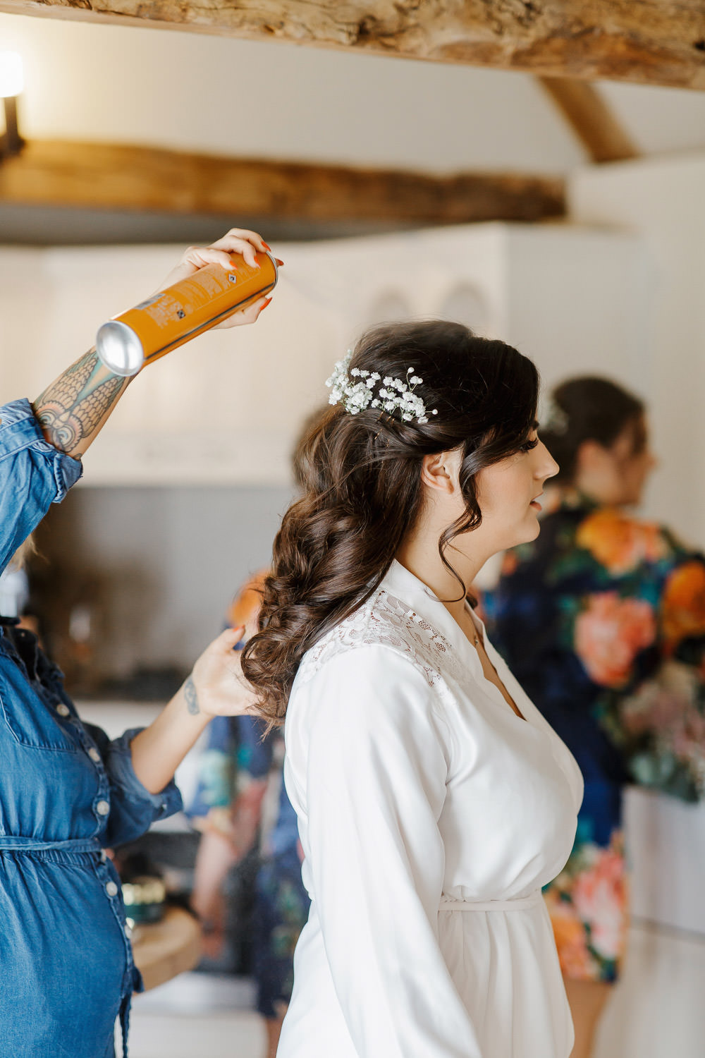Bride Bridal Hair Cotswolds Marquee Wedding Jessy Papasavva Photography
