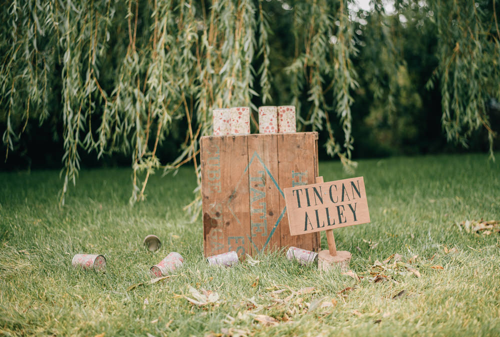Fete Game Tin Can Alley Eco Friendly Wedding Inspiration Sarah Jayne Photography