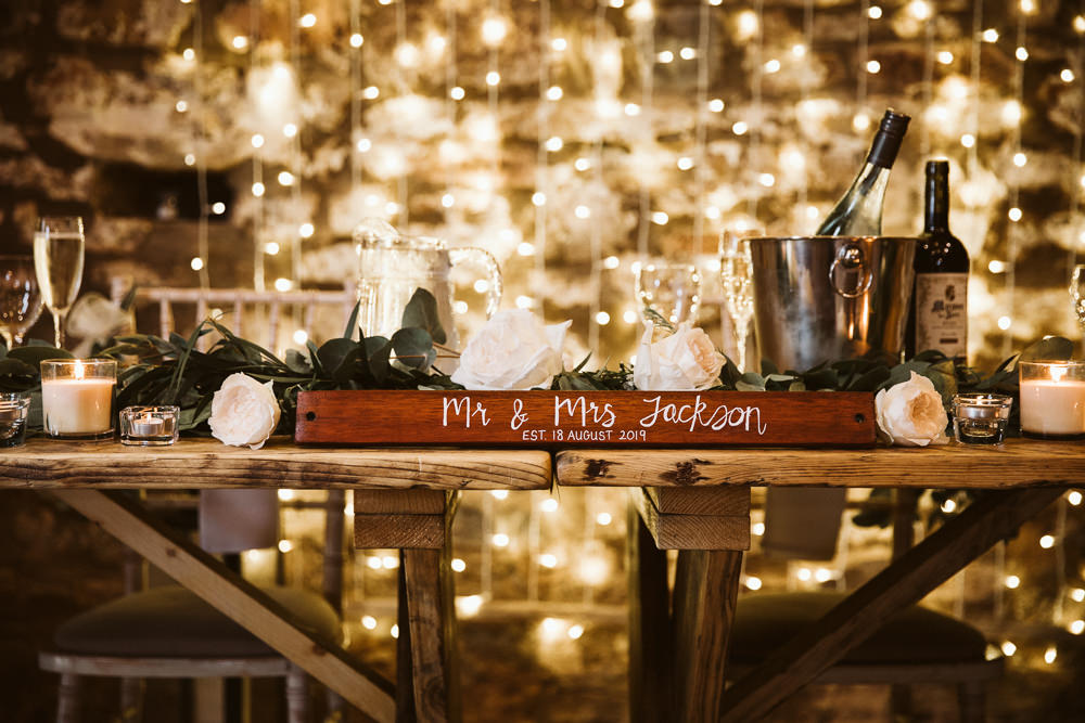Top Table Sign Signs Signage Eden Barn Wedding Margarita Hope Photography