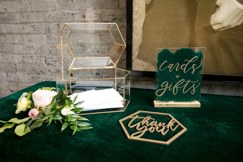 Terrarium Card Box Floral Minneapolis Wedding Jeannine Marie Photography