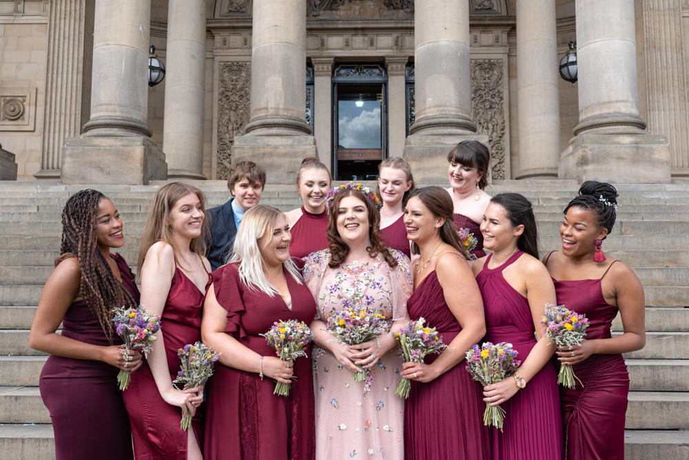 Bridesmaids Bridesmaid Dress Dresses Burgundy Northern Monk Brewery Wedding Lisa Howard Photography