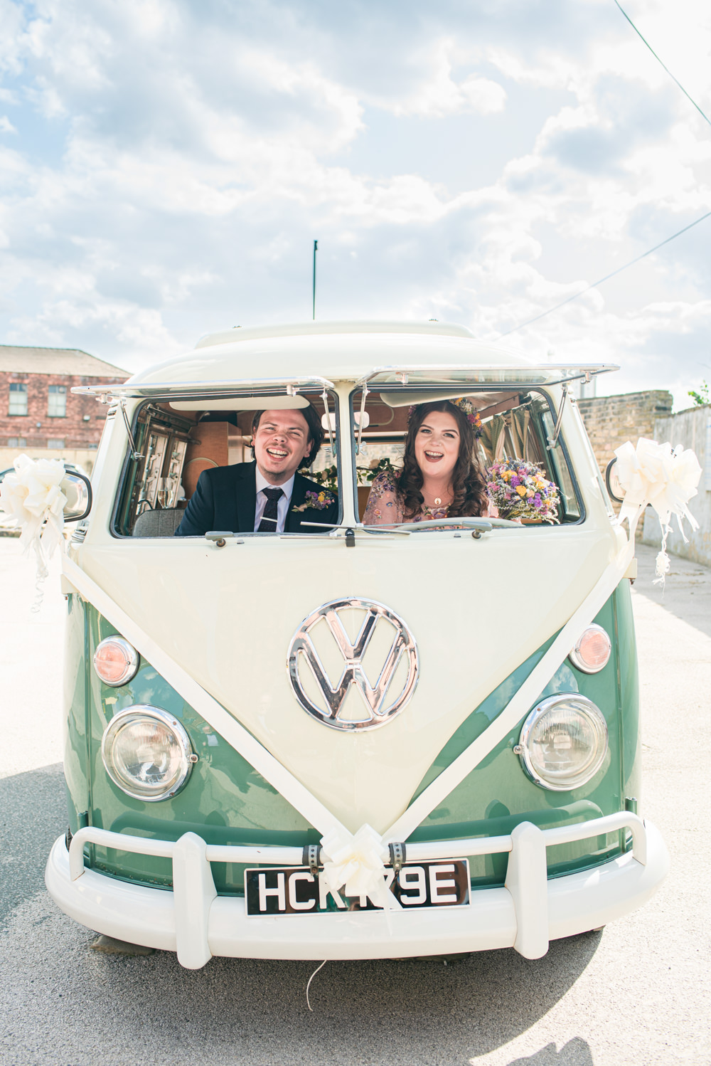 VW Campervan Transport Northern Monk Brewery Wedding Lisa Howard Photography