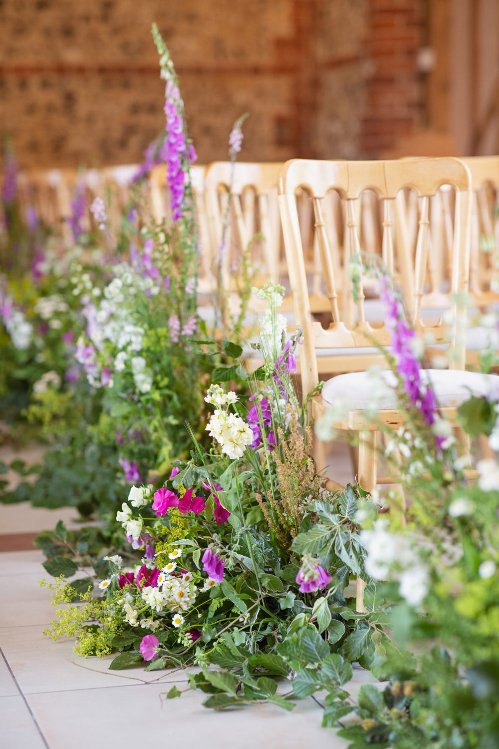 Aisle Flowers Pew End Ceremony Meadow Pretty Wild Flowers Rustic Tipi Wedding Cotton Candy Weddings