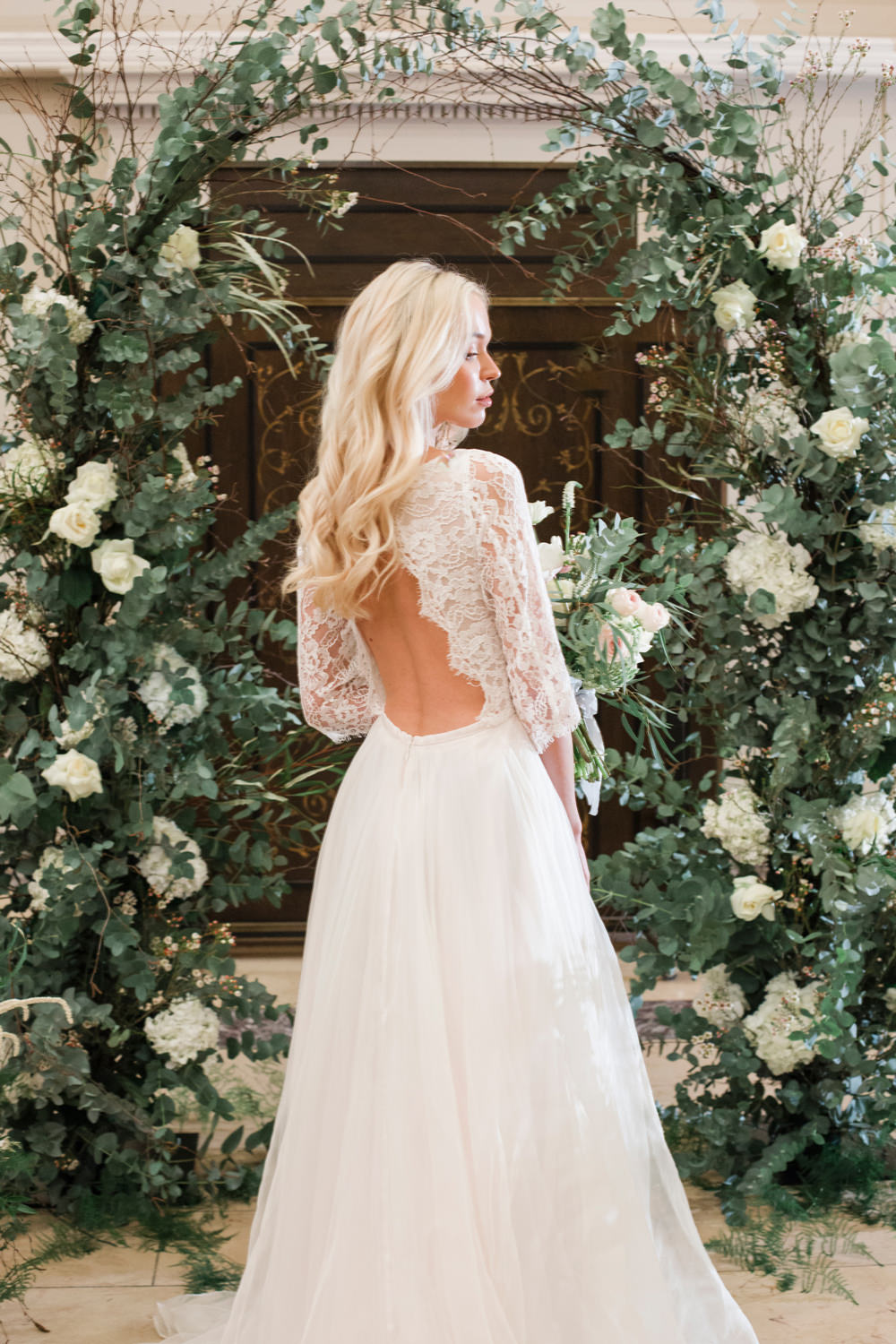 Bride Bridal Dress Gown Naomi Neoh Lace Sleeves Tulle Train Whimsical Elegant Wedding Ideas Mandorla London