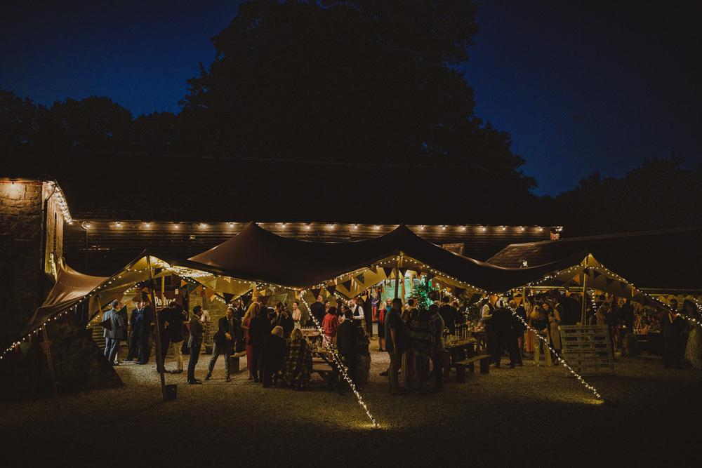 Lights Lighting Wiltshire Barn Wedding Photography34