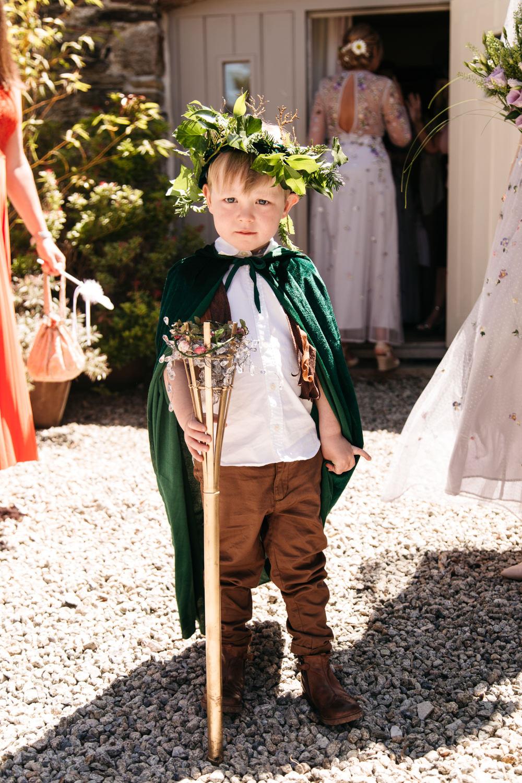 Page Boy Wonwood Barton Wedding Emma Barrow Photography