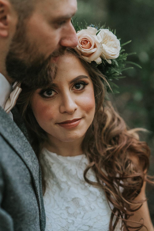 Bride Bridal Make Up Woodland Wedding Inspiration Stephanie Dreams Photography