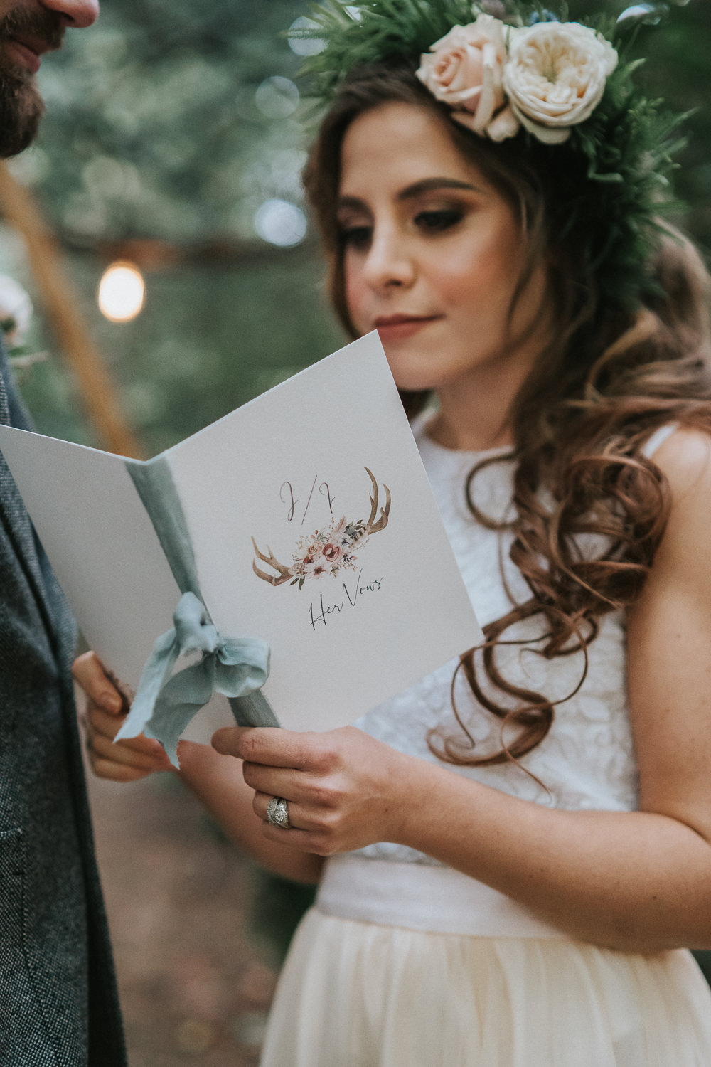 Vows Book Booklet Woodland Wedding Inspiration Stephanie Dreams Photography