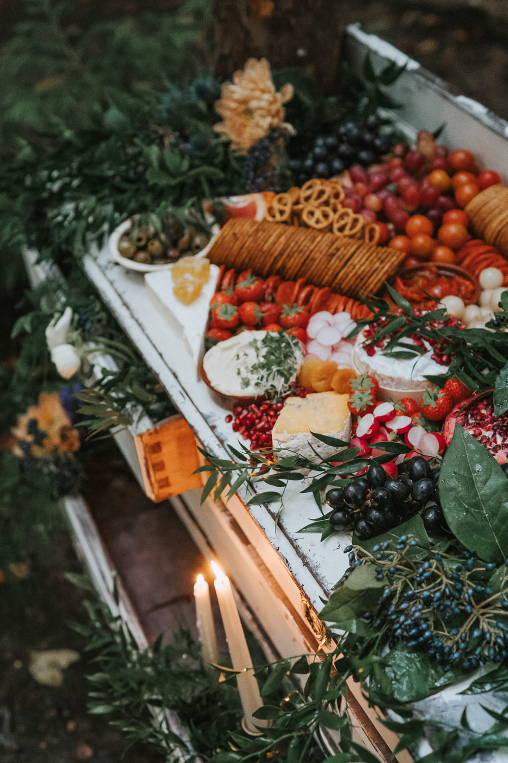 Grazing Table Sharing Platter Woodland Wedding Inspiration Stephanie Dreams Photography