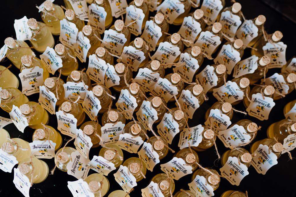 Mini Drinks Bottle Favours Aquapetra Resort Spa Wedding Peter Hughes Photography