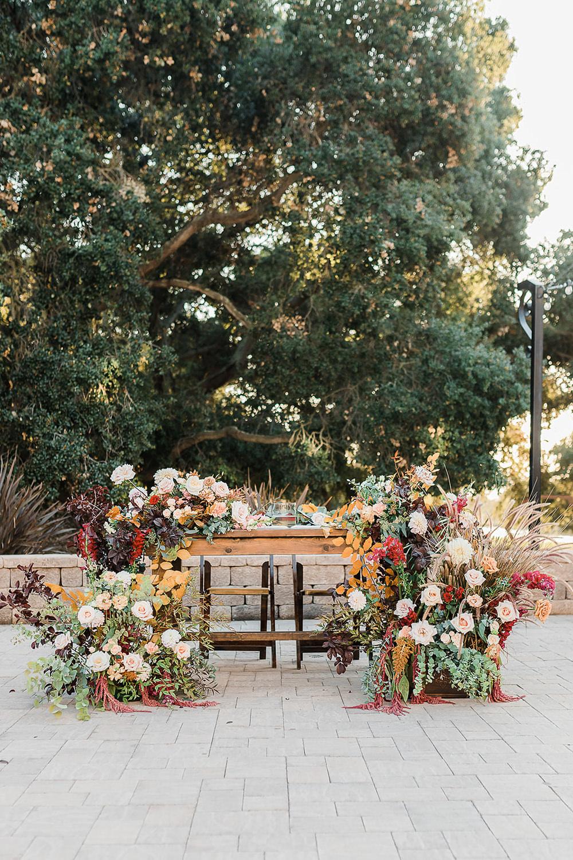 Top Table Sweetheart Table Flowers Meadow California Ranch Wedding WildflowerPhotoCo