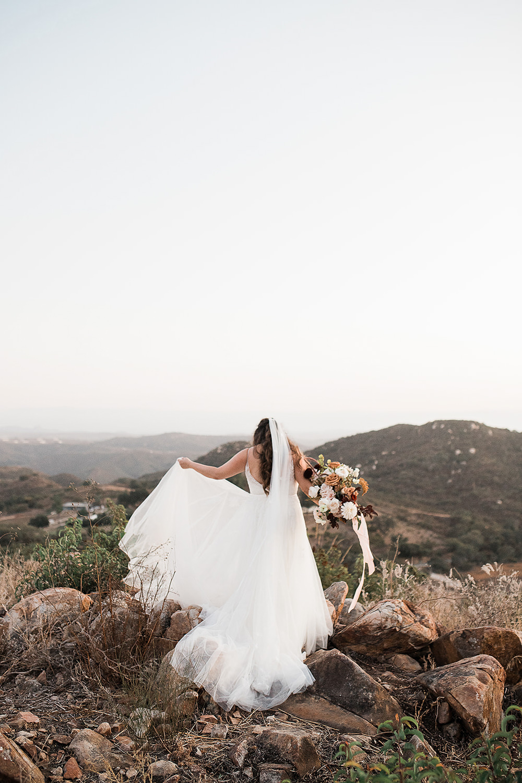 Bride Bridal Veil Dress Gown Watters California Ranch Wedding WildflowerPhotoCo