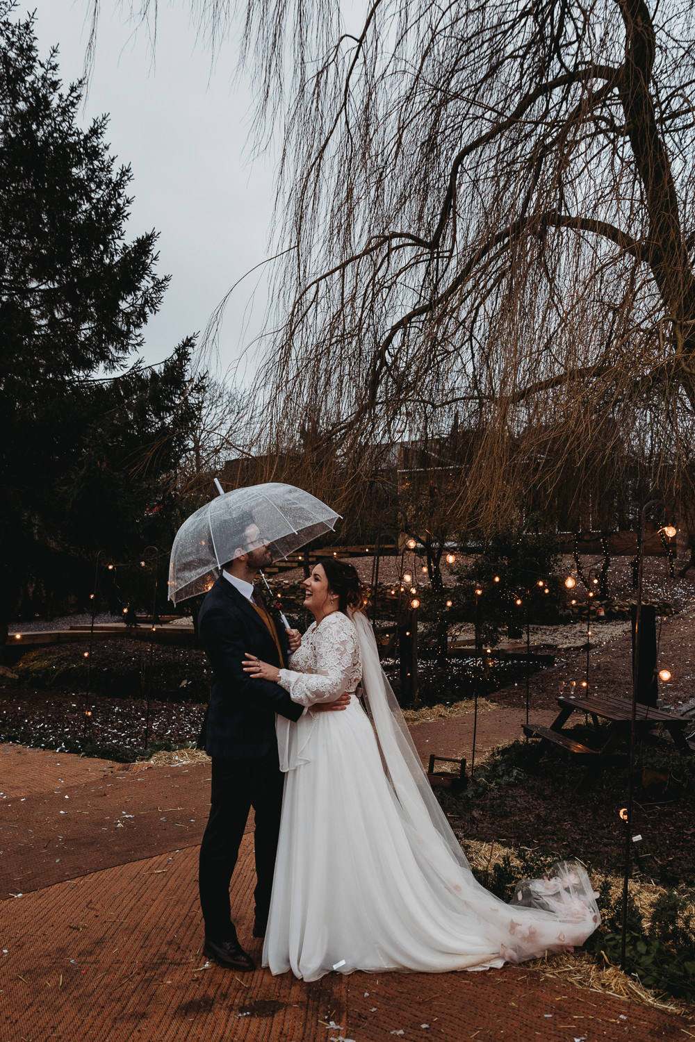 Umbrellas Christmas Marquee Wedding Thyme Lane Photography