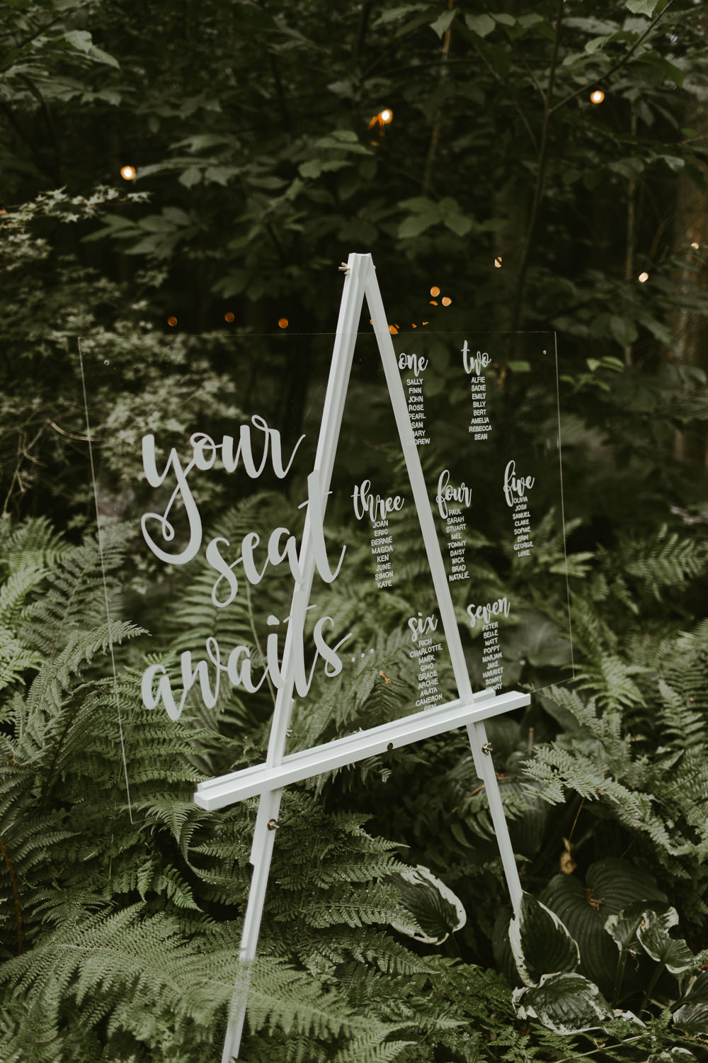 Perspex Clear Glass Acrylic Table Plan Seating Chart Dreamy Woodland Wedding Ideas Jasmine Andrews Photography