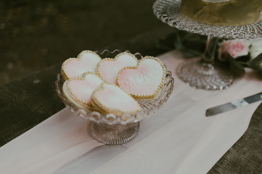 Cake Table Dessert Heart Cookie Dreamy Woodland Wedding Ideas Jasmine Andrews Photography