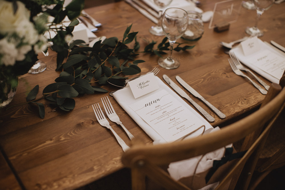 Greenery Foliage Table Runner Place Setting Decor Natural Marquee Wedding Fox & Bear Photography