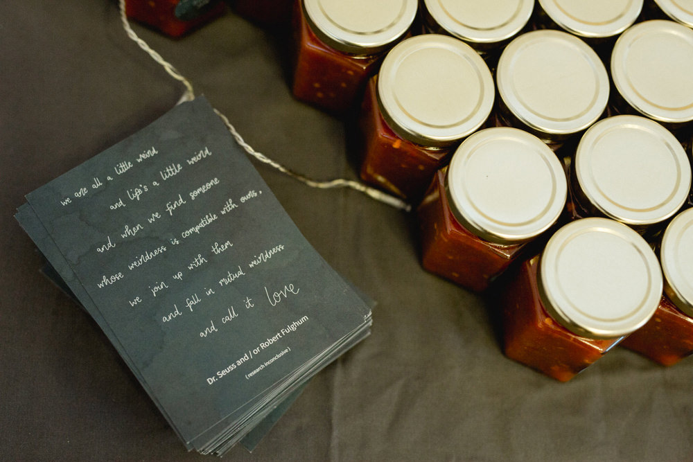 Favours Jars Sheffield Town Hall Wedding Mark Newton Wedding Photography
