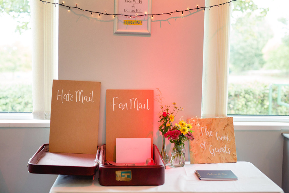 Card Gift Table Guest Book Sheffield Town Hall Wedding Mark Newton Wedding Photography