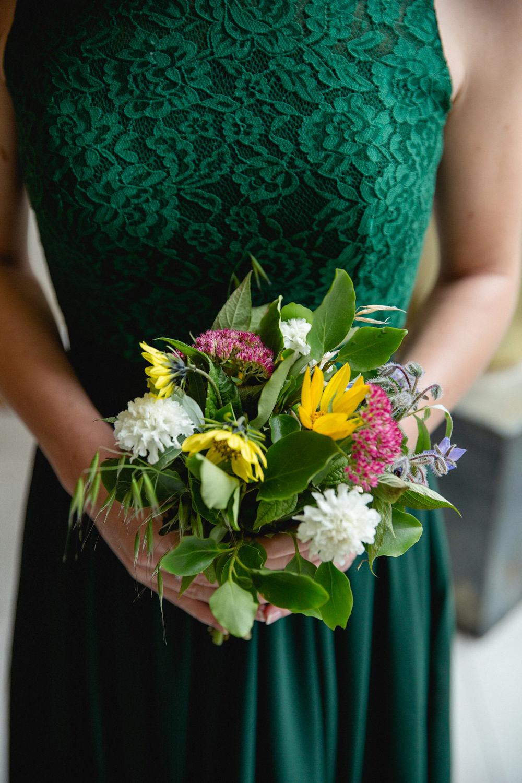 Bouquet Flowers Bride Bridal Bridesmaids Sheffield Town Hall Wedding Mark Newton Wedding Photography
