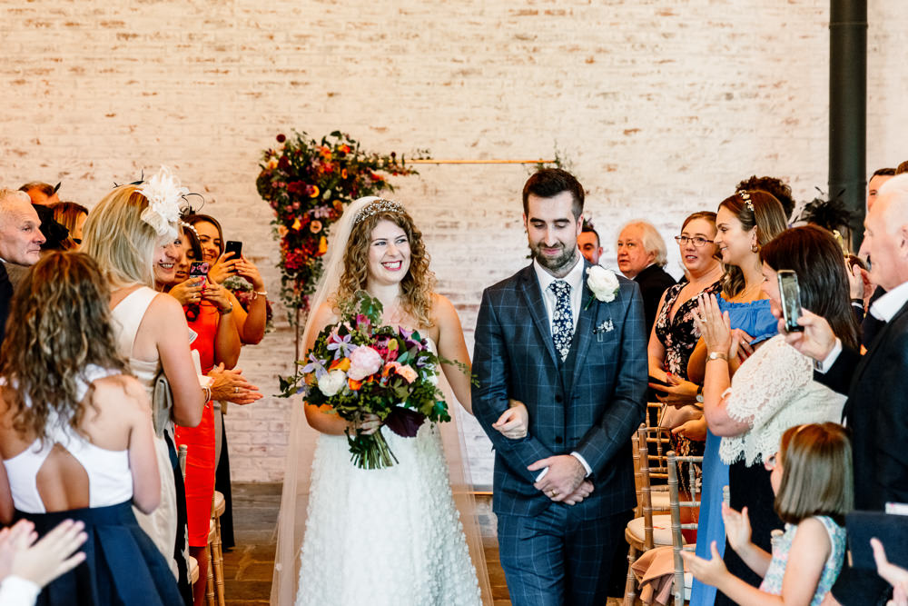 Flower Arch Flowers Backdrop Ceremony Aisle Sperry Tent Wedding Hayley Baxter Photography