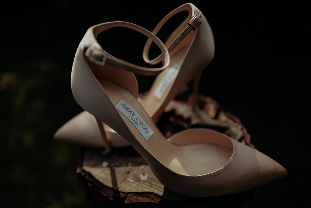 Jimmy Choo Shoes Bride Bridal Combermere Abbey Wedding Damian Brandon Photography