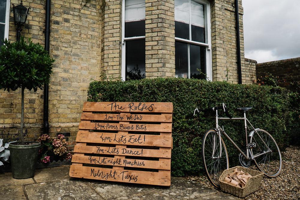 Wooden Pallet Sign Signs Signage Lodge Farm Wedding David Boynton Wedding Photography