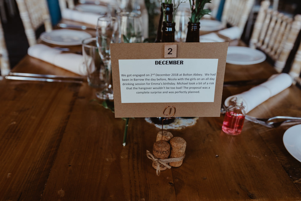 Month Date Table Name Arches Dean Clough Wedding Stevie Jay Photography