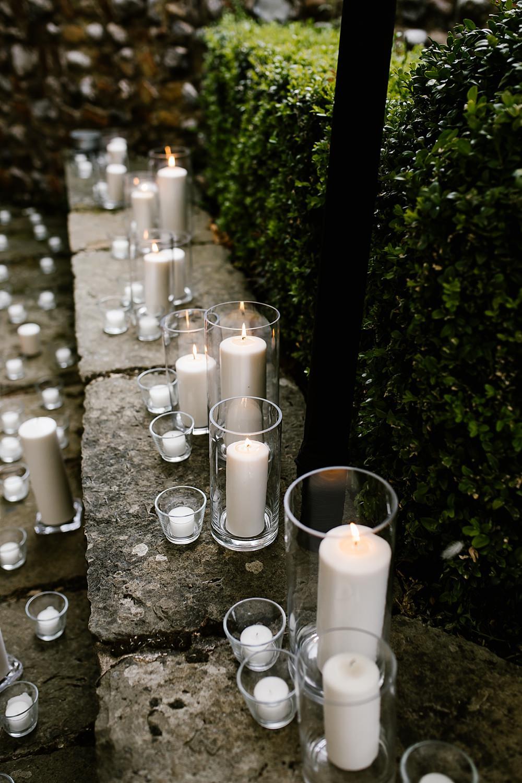 Candles Decor Chaucer Barn Wedding Katherine Ashdown Photography