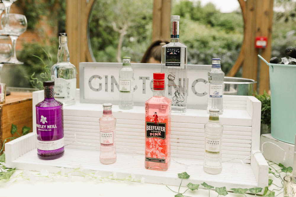 Gin Bar Drinks Dove Grey Wedding Danielle Smith Photography