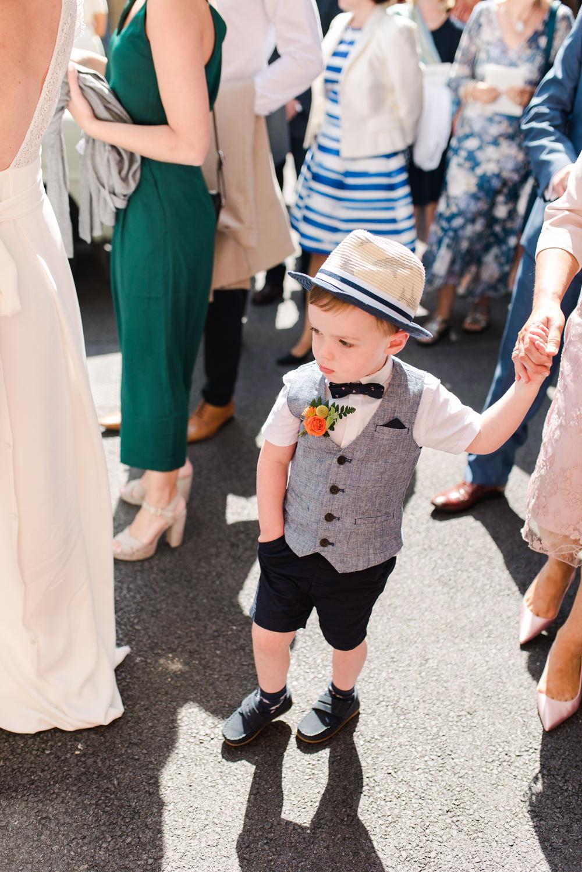 Page Boy Hat Bow Tie Shorts Waistcoat Perch Inn Wedding Captured By Katrina