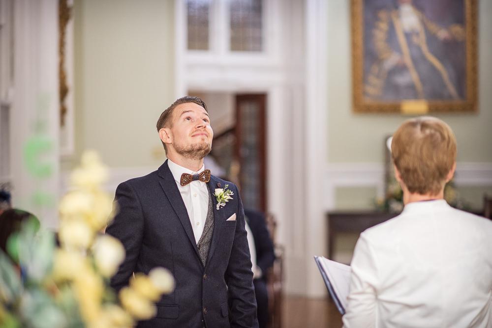 Groom Suit Navy Waistcoat Bow Tie Sopley Lake Wedding One Thousand Words