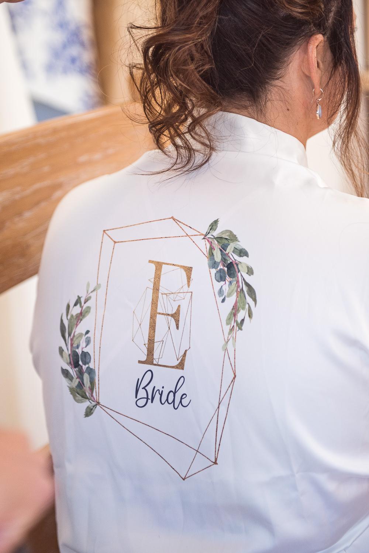Bride Bridal Robe Dressing Gown Sopley Lake Wedding One Thousand Words