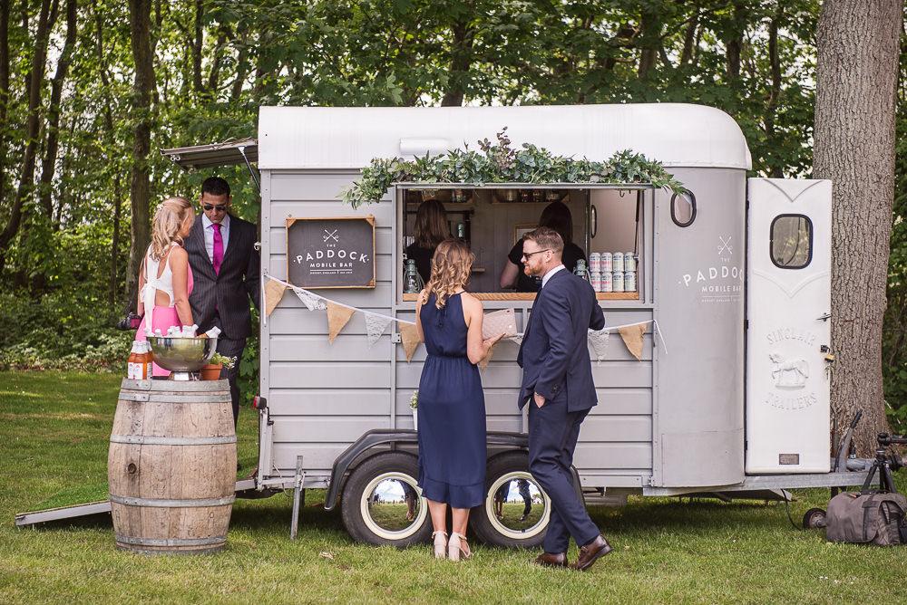 Horse Box Bar Trailer Sopley Lake Wedding One Thousand Words