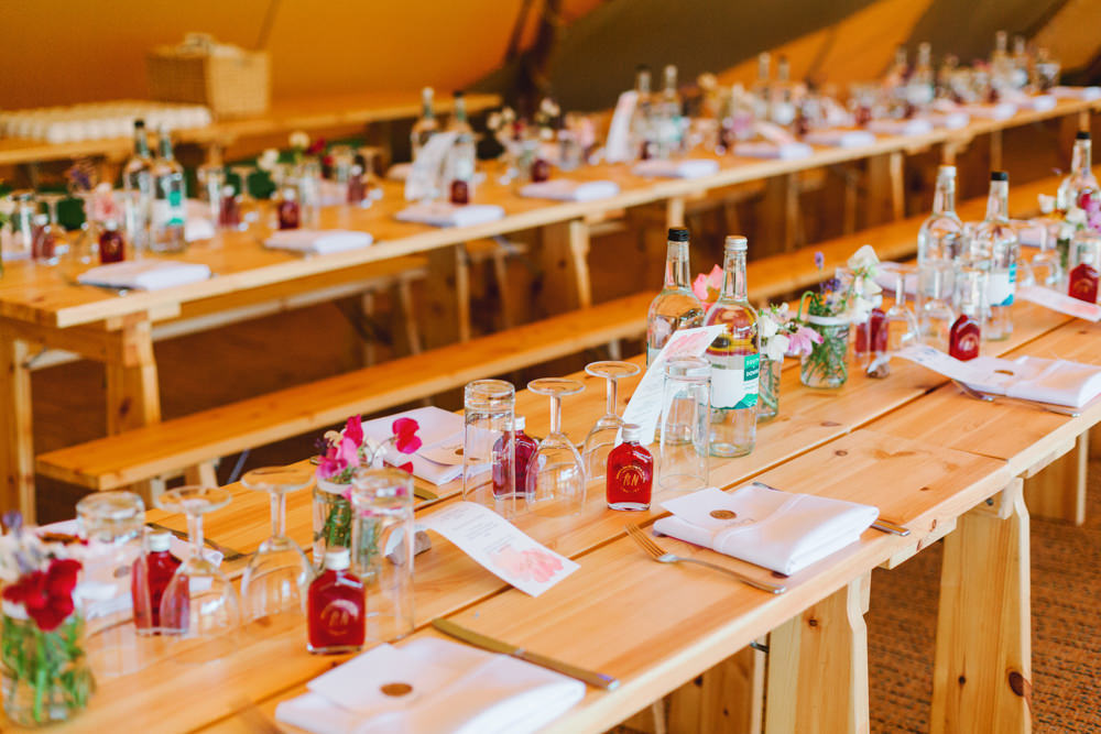 Long Tables Wooden Decor Tipi Yew Tree Lakes Wedding Charlotte Hu Photography