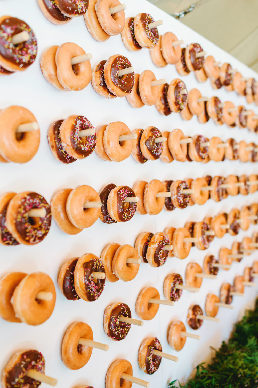 Donut Doughnut Wall Stand Yew Tree Lakes Wedding Charlotte Hu Photography