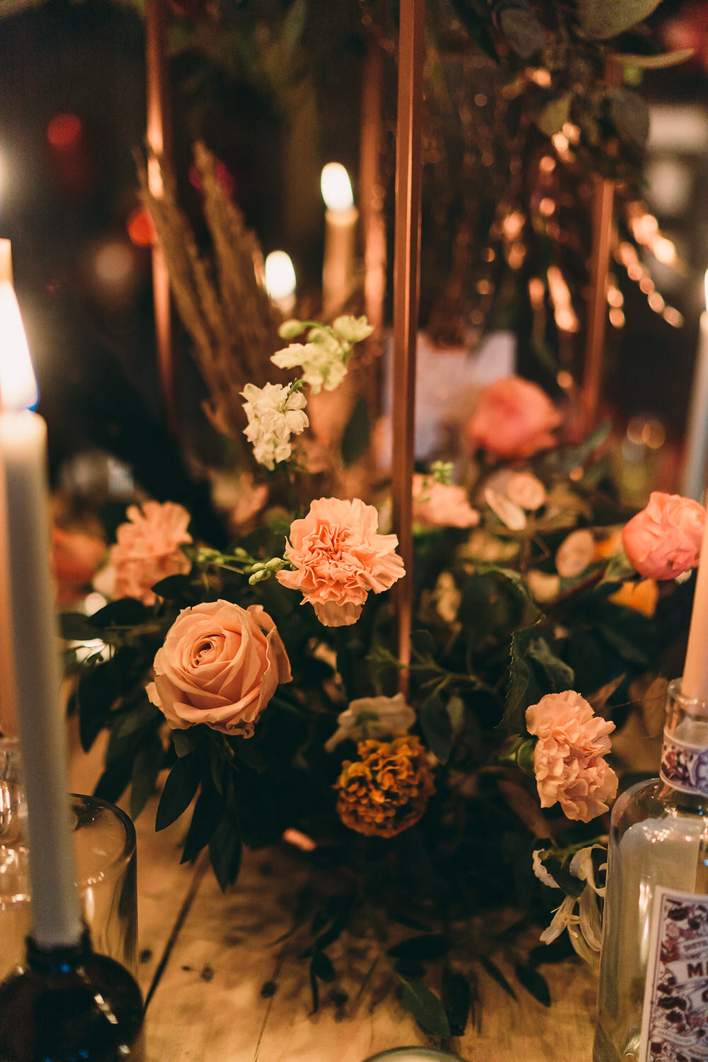 Table Tablescape Decor Decoration Flowers Candles Centrepiece Balloon Wedding Ideas Leesha Williams Photography