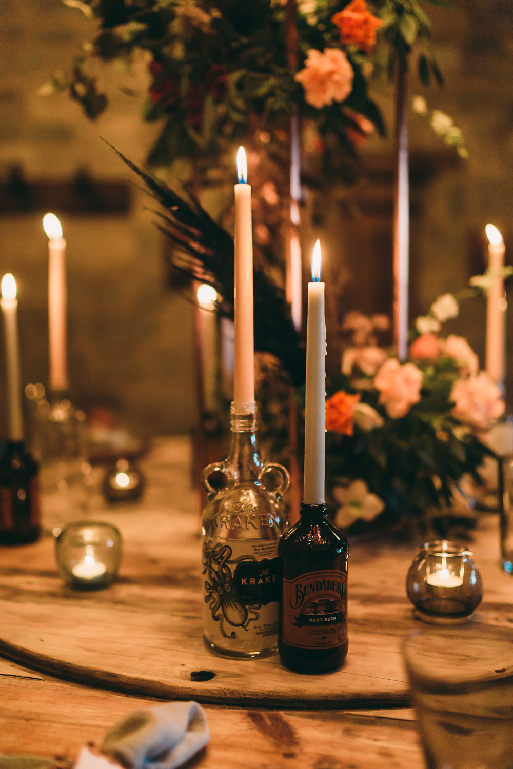 Table Tablescape Decor Decoration Flowers Candles Balloon Wedding Ideas Leesha Williams Photography