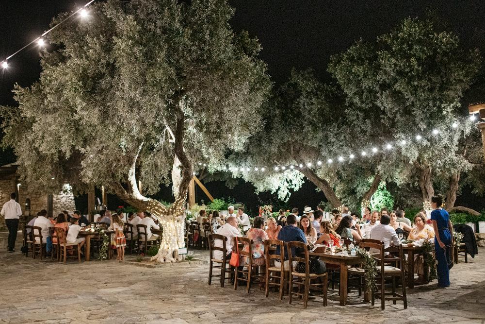 Festoon Lights Lighting Crete Wedding HannaMonika Wedding Photography