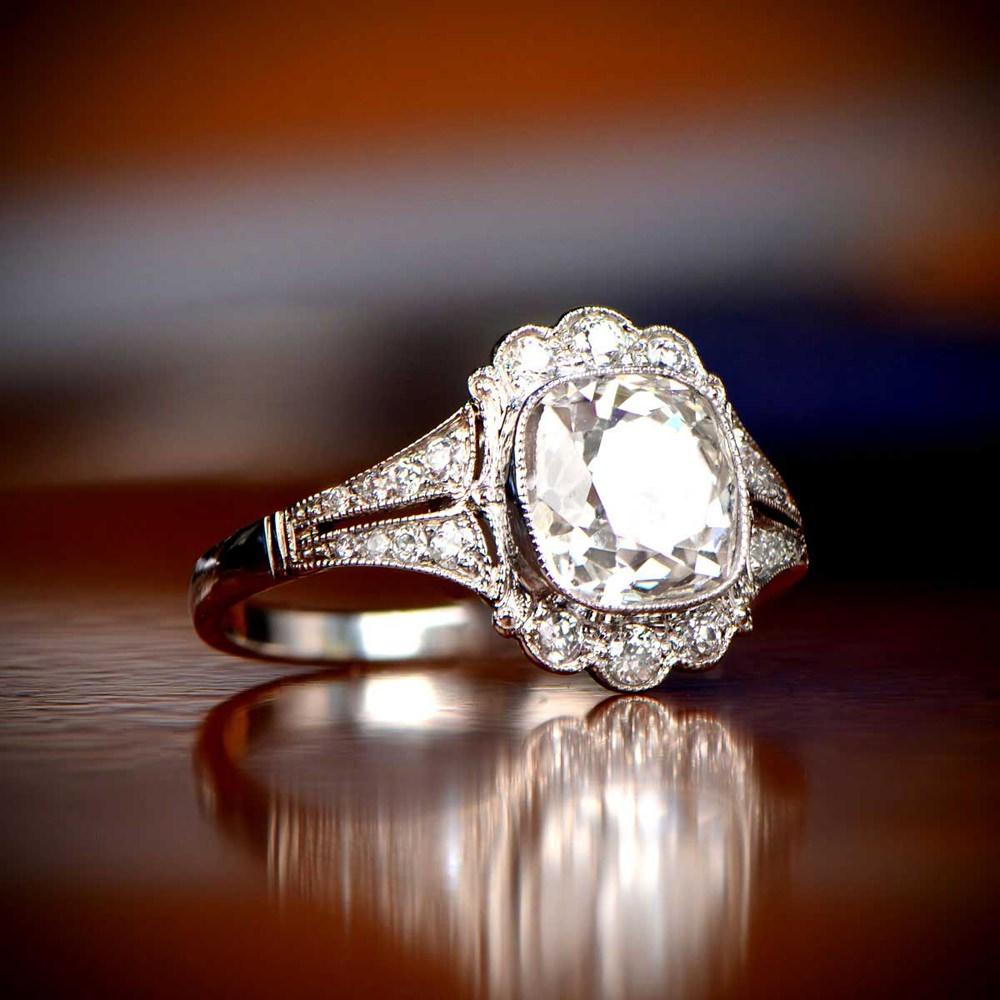 Vintage Engagement Ring Jewellery Estate Diamond Jewelry