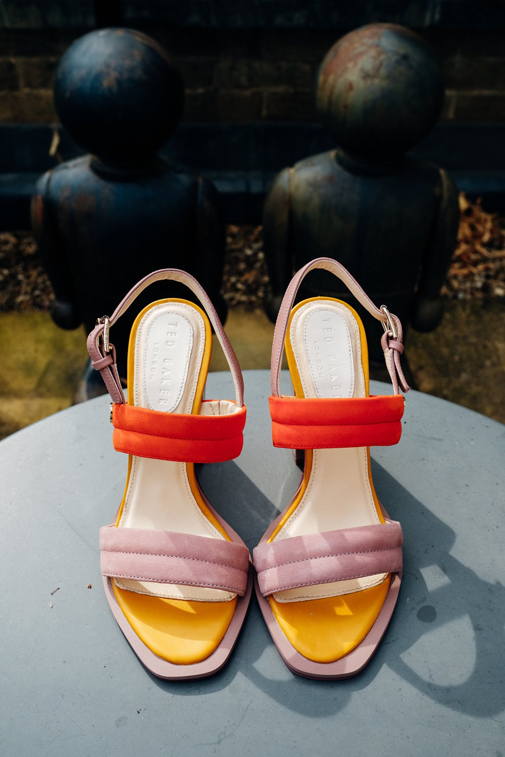 Colour Block Heels Shoes Bride Bridal East London Wedding Marianne Chua Photography