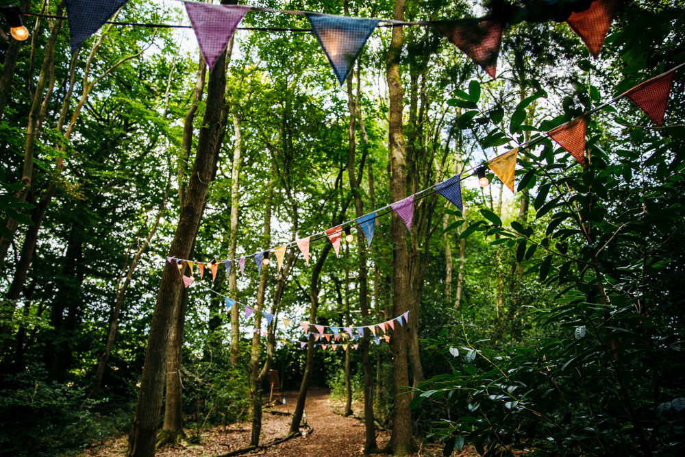 Bunting Lila's Wood Wedding Two-D Photography