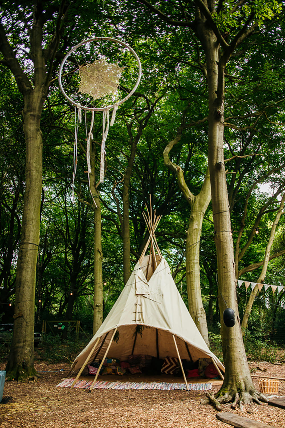 Tipi Tent Lila's Wood Wedding Two-D Photography