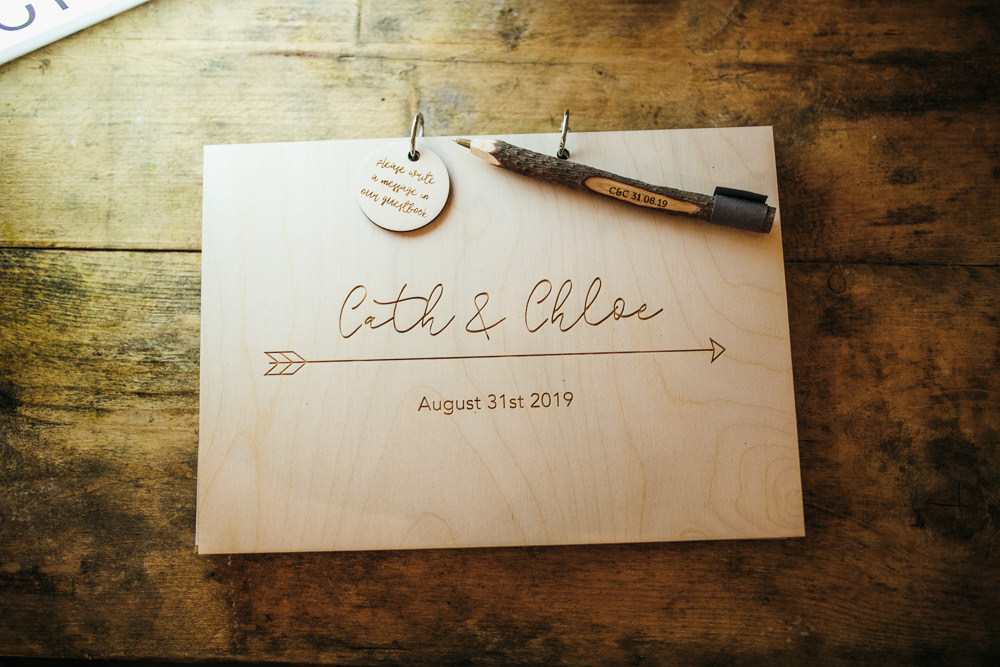 Wooden Guest Book Lila's Wood Wedding Two-D Photography